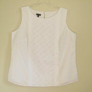 Talbots White Cotton Shell Top - 14 Womens